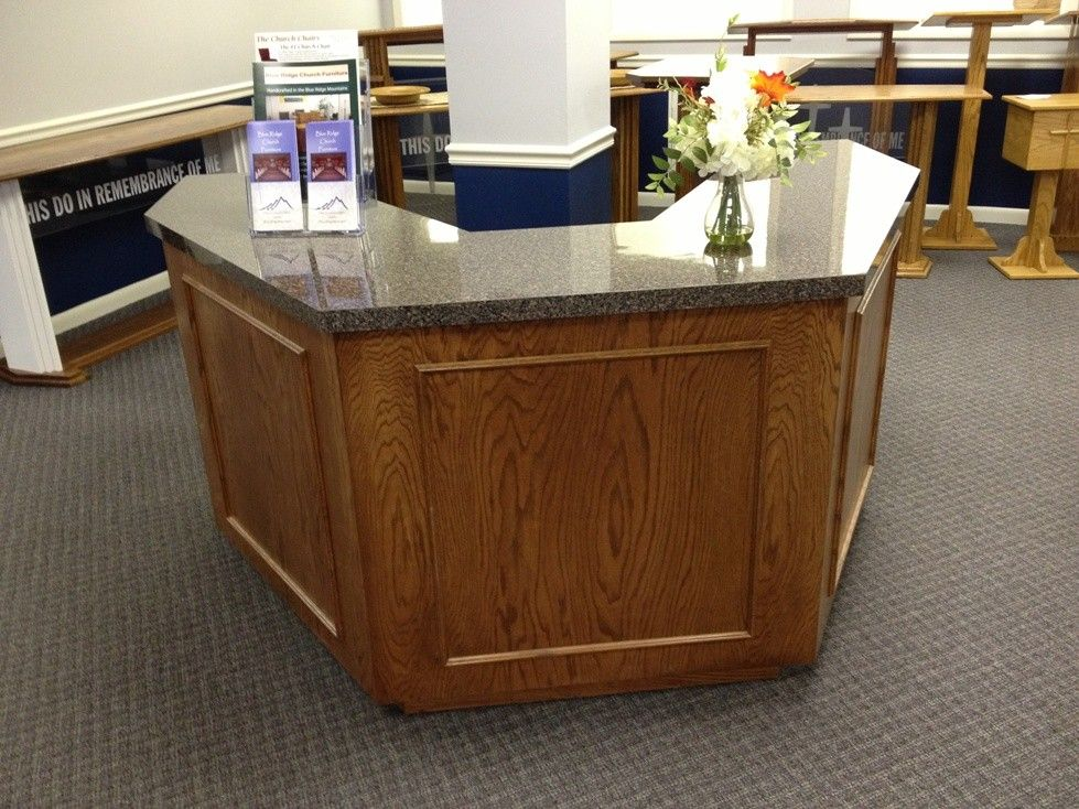 Church Foyer Furniture Ideas : Information center furniture ft wide welcome for