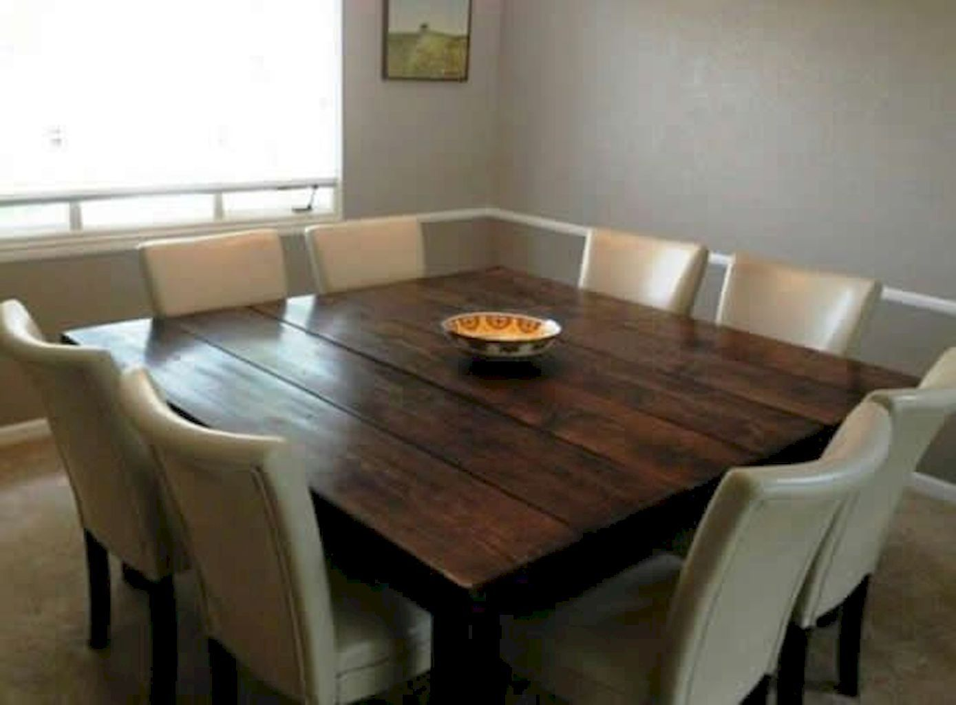 Enhance Dinning Room With Farmhouse Table Square Dining Room