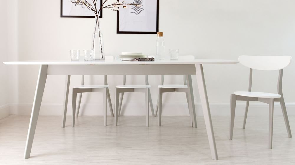 Senn Grey And White Dining Chair White Kitchen Chairs Grey