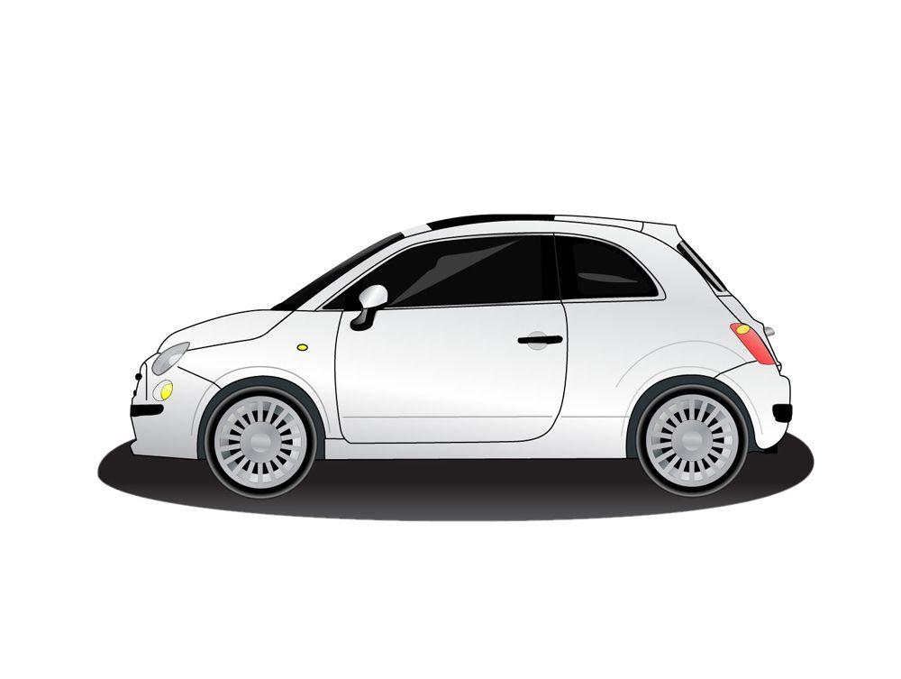 Fiat 500 Vector Com Imagens Leds