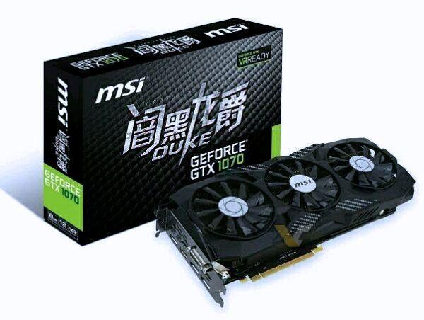 Msi Gtx 1070 Duke With Triple Fan Cooler Graphic Card Msi Nvidia