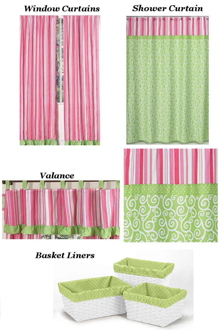 Curtains and basket liners girls comforter sets shower