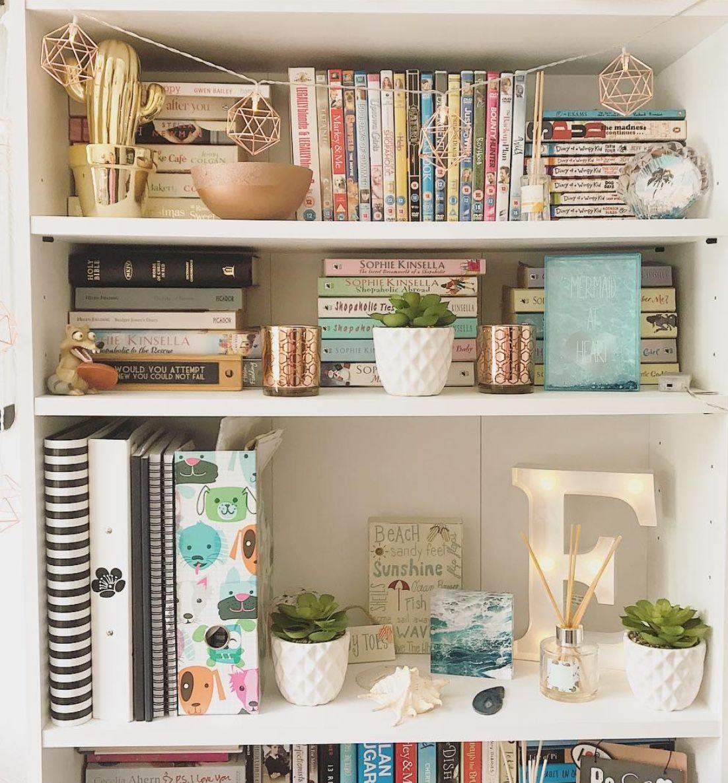 Bookcase Aesthetic Bedroom Bookshelf Decor Bookshelves In Bedroom Bookcase Decor