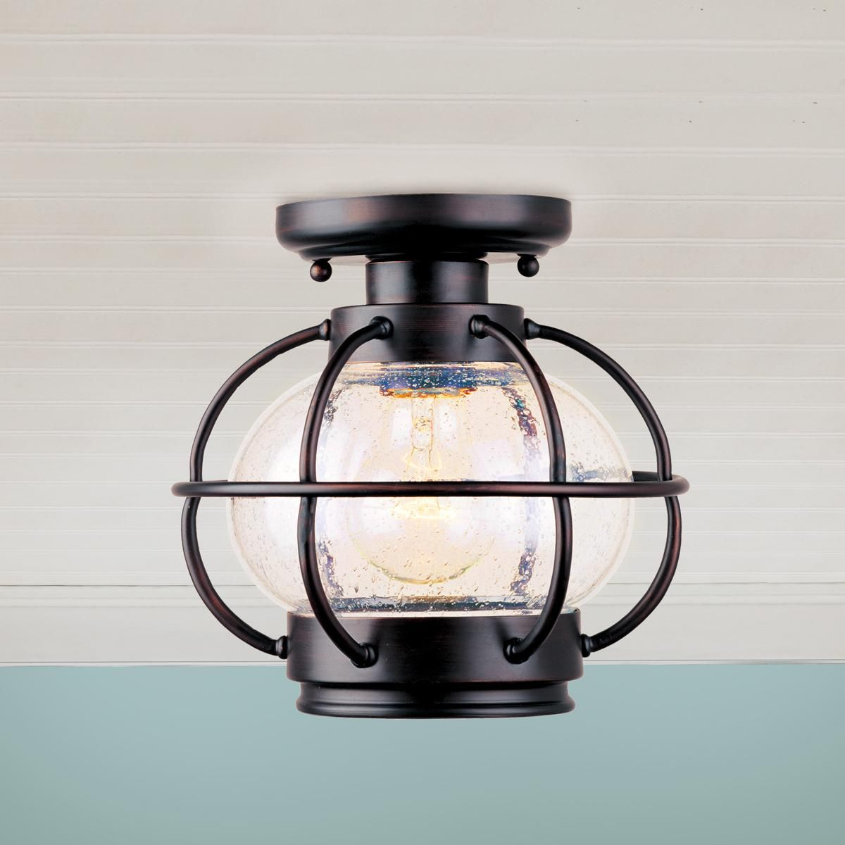 Outdoor Entryway Lighting Ideas: Nautical Onion Outdoor Ceiling Light