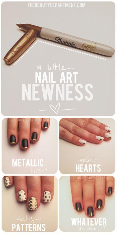 Mani Monday New Favorite Pinterest Sharpie Nail Art Sharpie