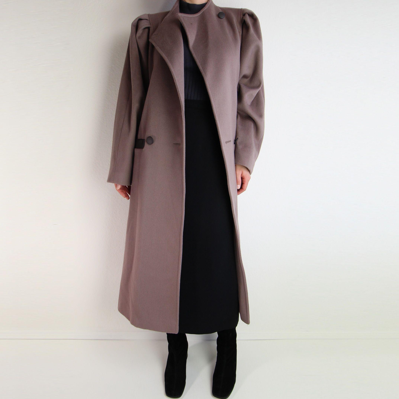 mauve coat Wool coat women, Coat, Vintage coat