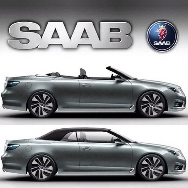 In circulation for some time now, a glimpse of what could have been. #SAAB #9-5 #convertible #softtop #imagined