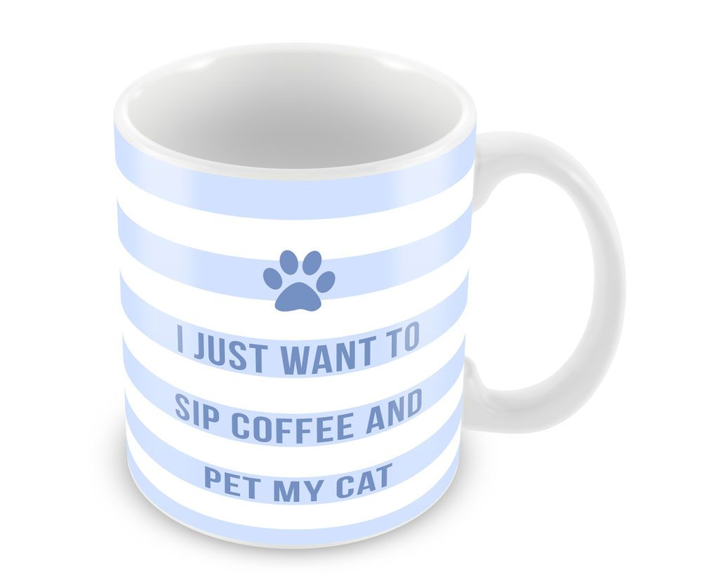 Kitchen Present Details About Sip Coffee And Pet My Cat Mug Kitten Feline Cat Lady