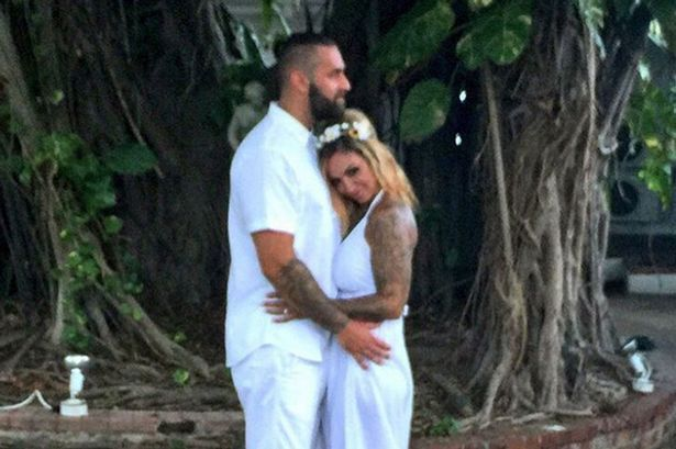 Jodie Marsh Married Her Boyfriend James Placido Whilst Wearing An While Jumpsuit Instead Of A Wedding