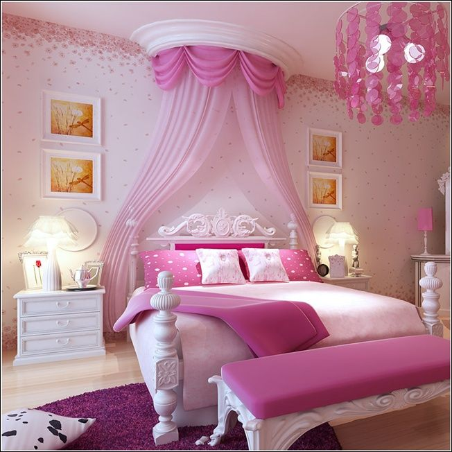 Cute Bedroom Ideas Your Daughter Will Love A Room Filled With Color Patterns And Accessories Click Through To Find Oh So Pretty
