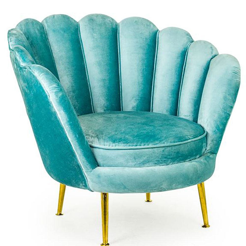 An opulent teal velvet cocktail accent chair isabella