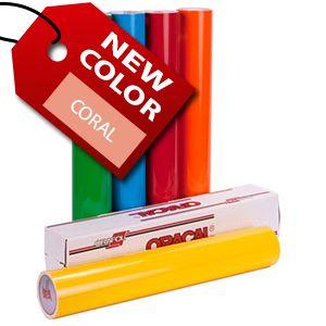 Oracal 651-24 w_coral | Heat transfer warehouse, Heat ...