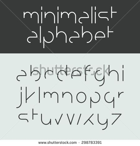 Minimalist Alphabet Lower Case Letters Font Design Vector