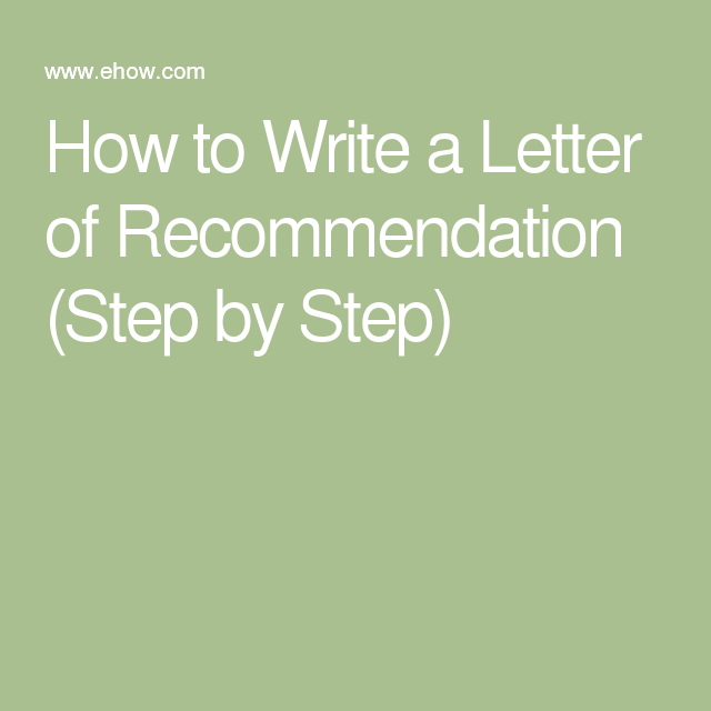How To Write A Letter Of Recommendation Step By Step  Service