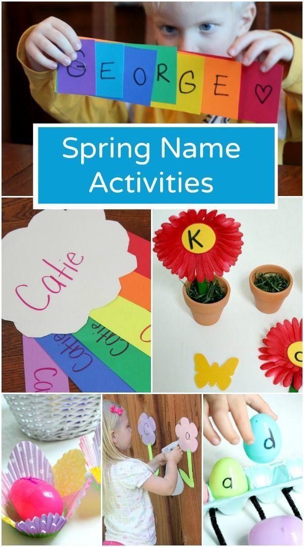 Spring Name Activities for Preschool