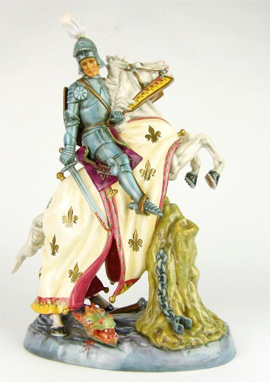A Royal Doulton porcelain figure, St George and the Dra : Lot 272
