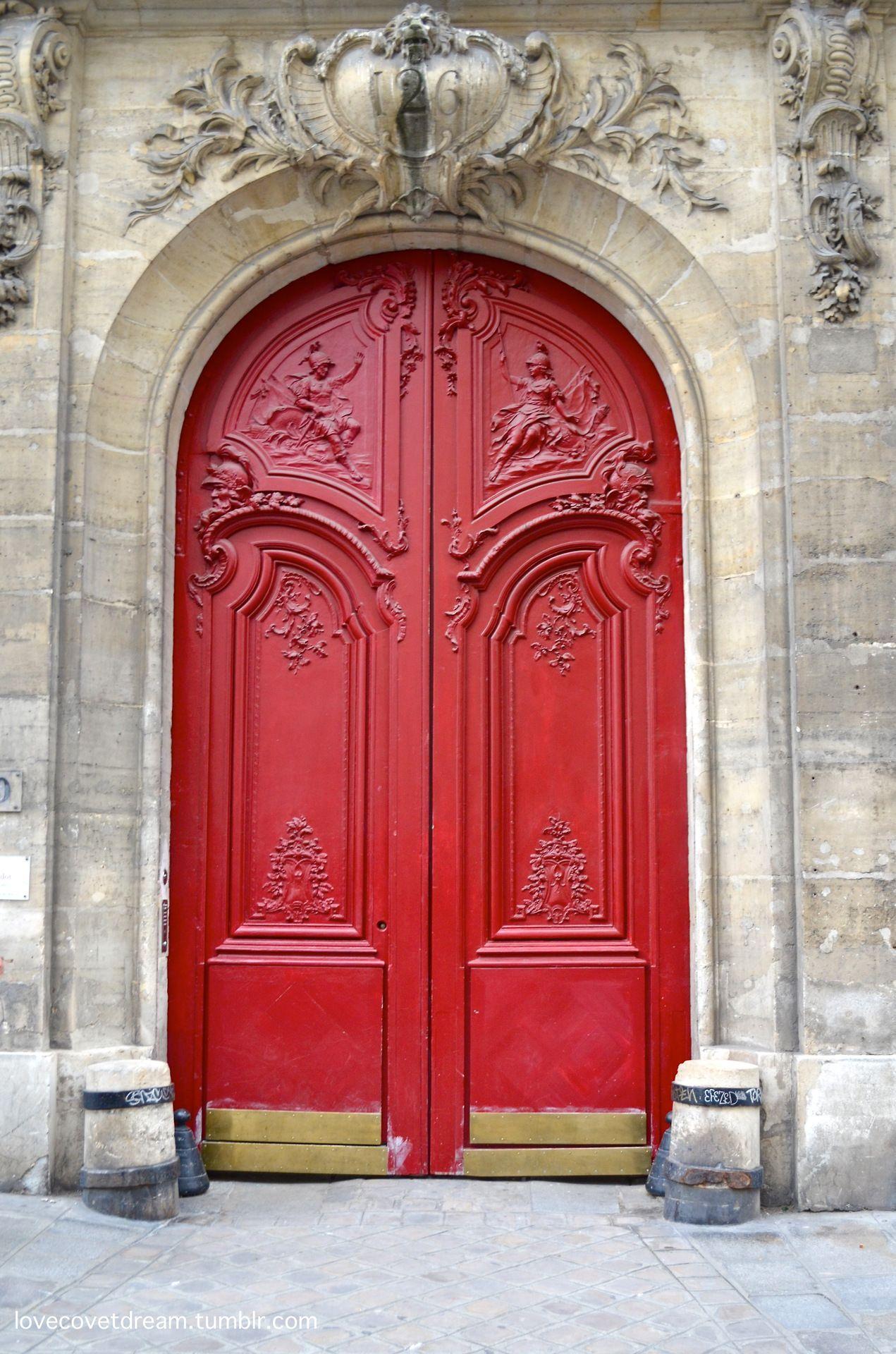 Beautiful red door; Paris, France | Inviting Home Inspired | DOOR ...