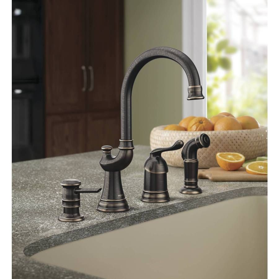 Shop Moen Muirfield Mediterranean Bronze 1 Handle High Arc Kitchen