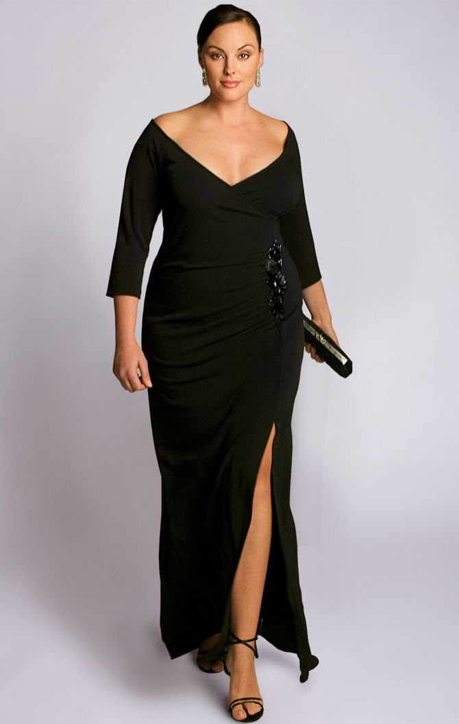 party season style inspiration | lbd, full figured and glamour