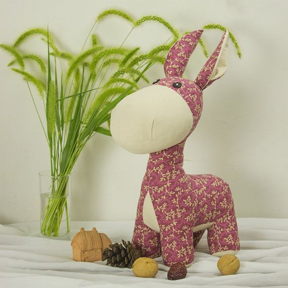 Stuffed Animal - Donkey | Burro PDF sewing pattern & tutorial ...