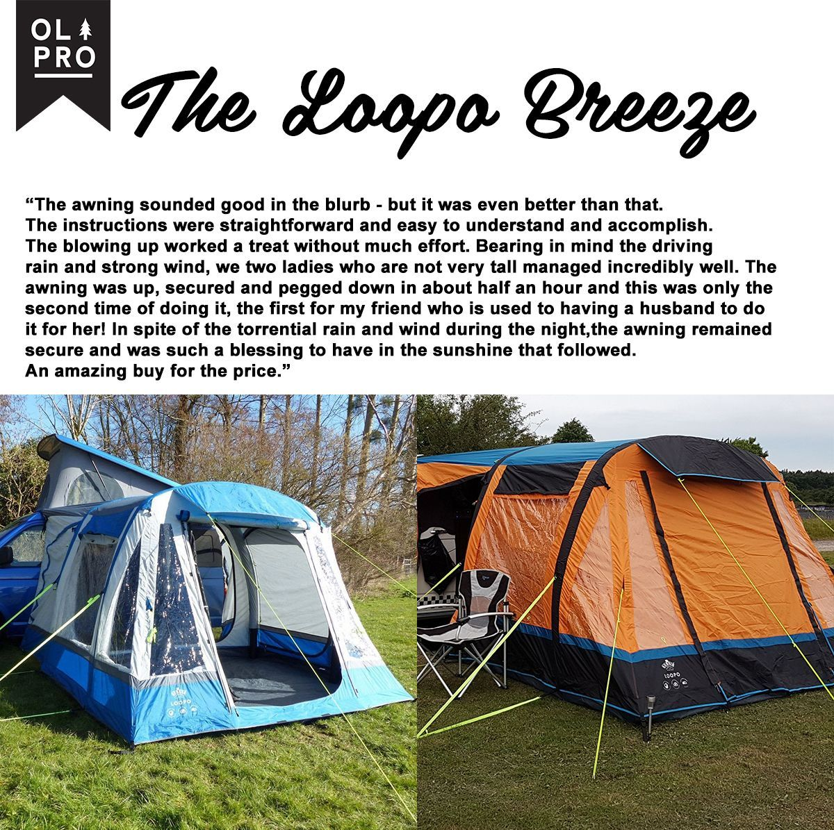 A very happy loopo customer sent us this fantastic review