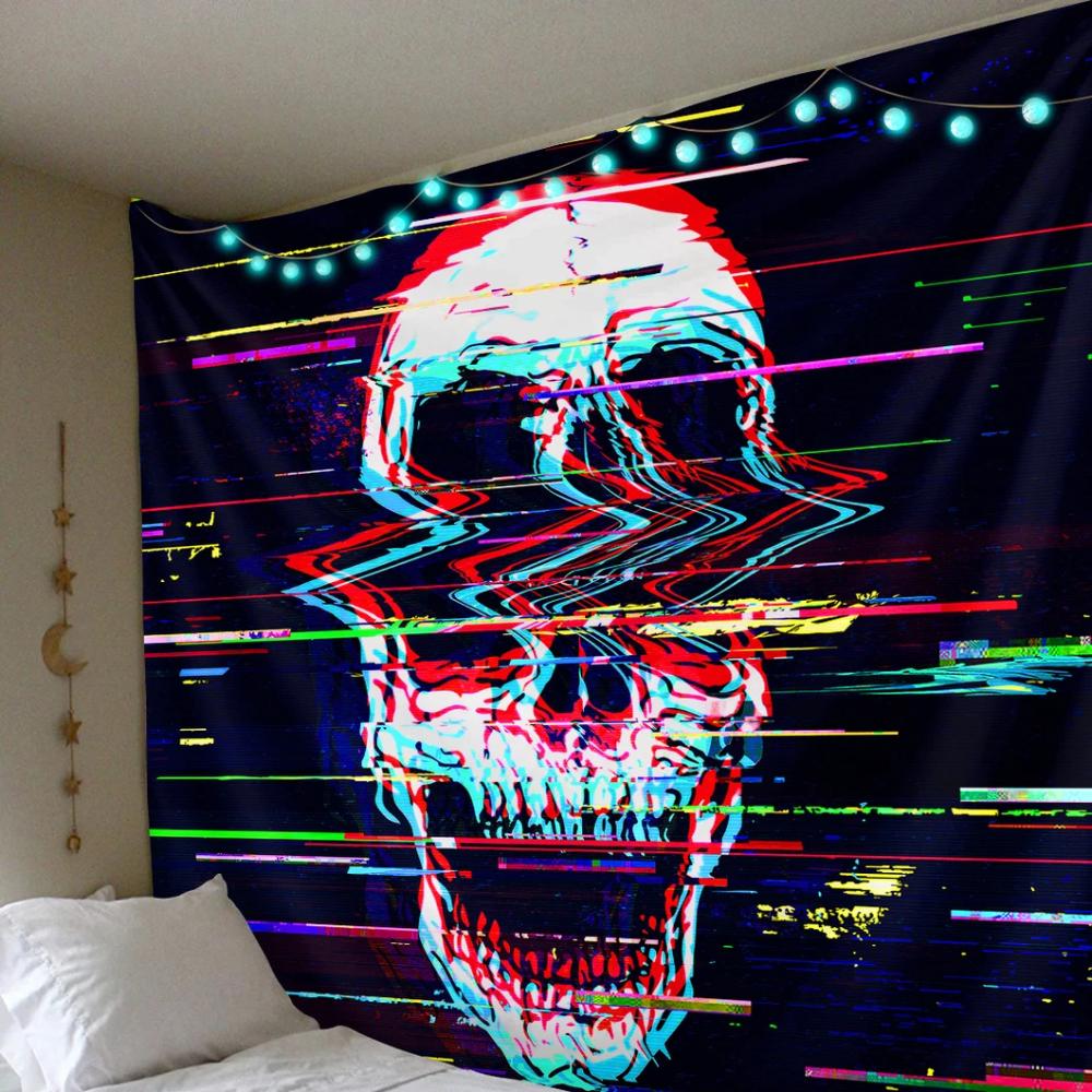Skull Tapestry Bedroom Concept