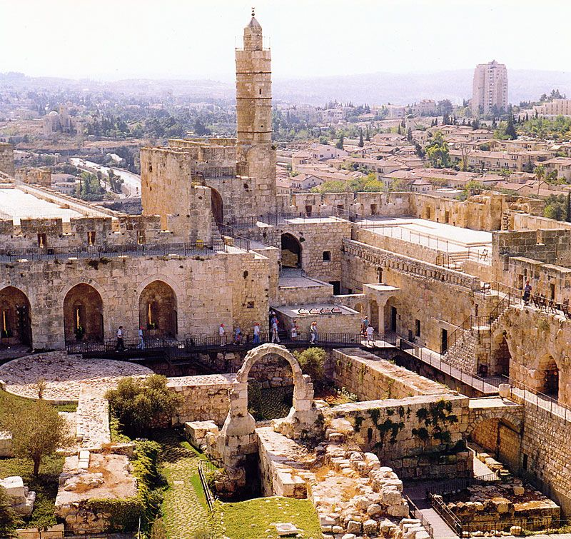 pictures of jerusalem today | top (W) | 2.below (Herod's palace -the three towers) | 3.right - the ...