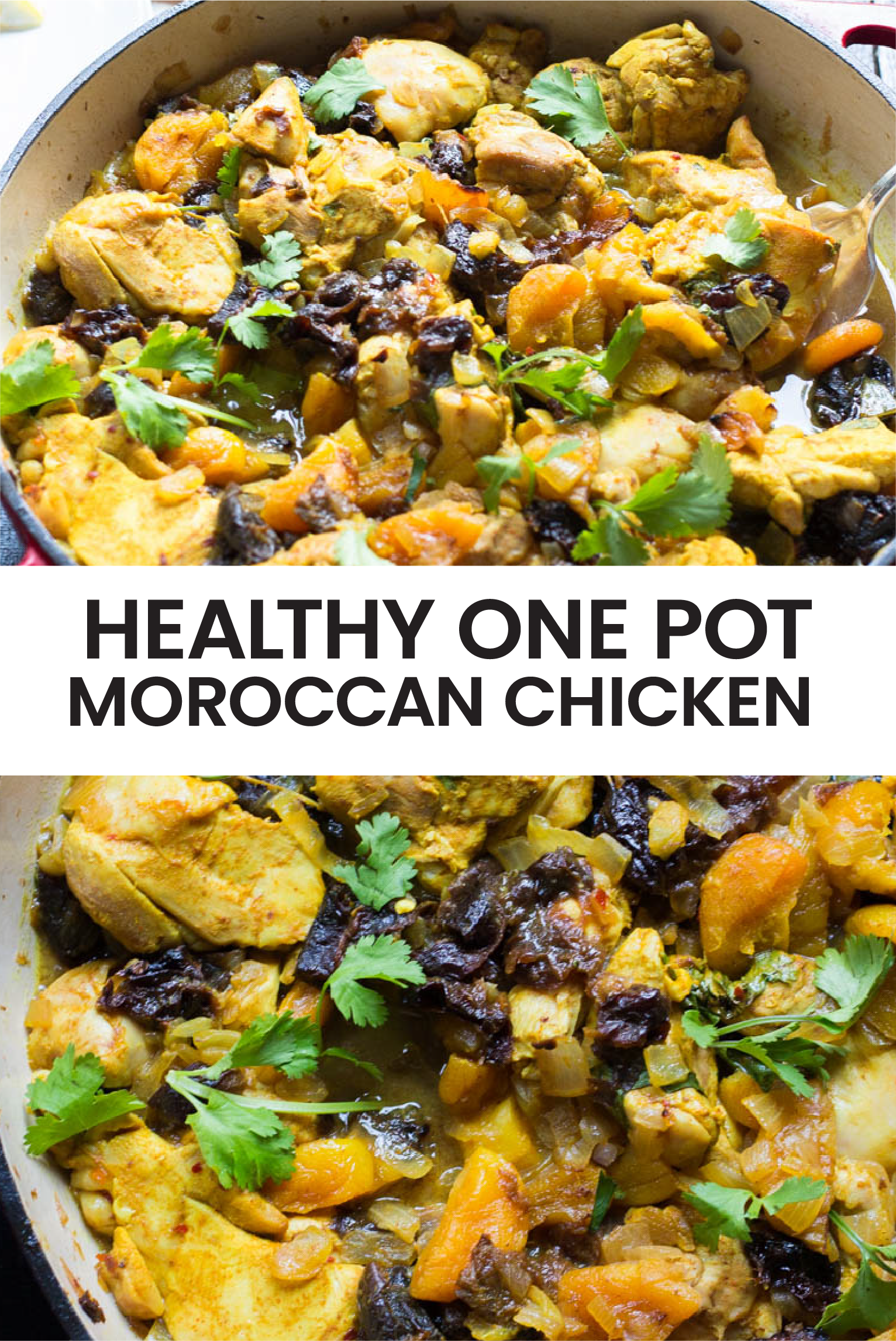 Healthy And Easy Moroccan Chicken A One Pot Chicken Recipe Recipe In 2020 Moroccan Chicken Recipe Moroccan Chicken Chicken Recipes