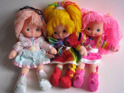 toysofthe80s:  Rainbow Brite vintage dress up dolls (by sirimaedoll)