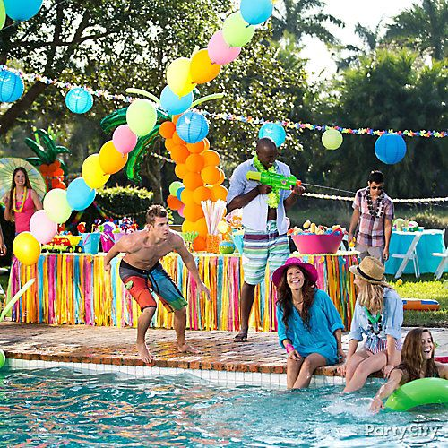 Summer Party Ideas Pool Party Themes Pool Birthday Party Summer Pool Party