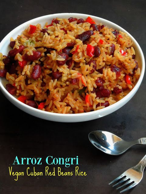 Arroz Congrivegan Cuban Red Beans Rice Rice Bowl In 2019