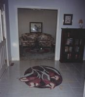 Custom Oval Shaped Fl Rug Calla Lilies Spill Out Of This Foyer