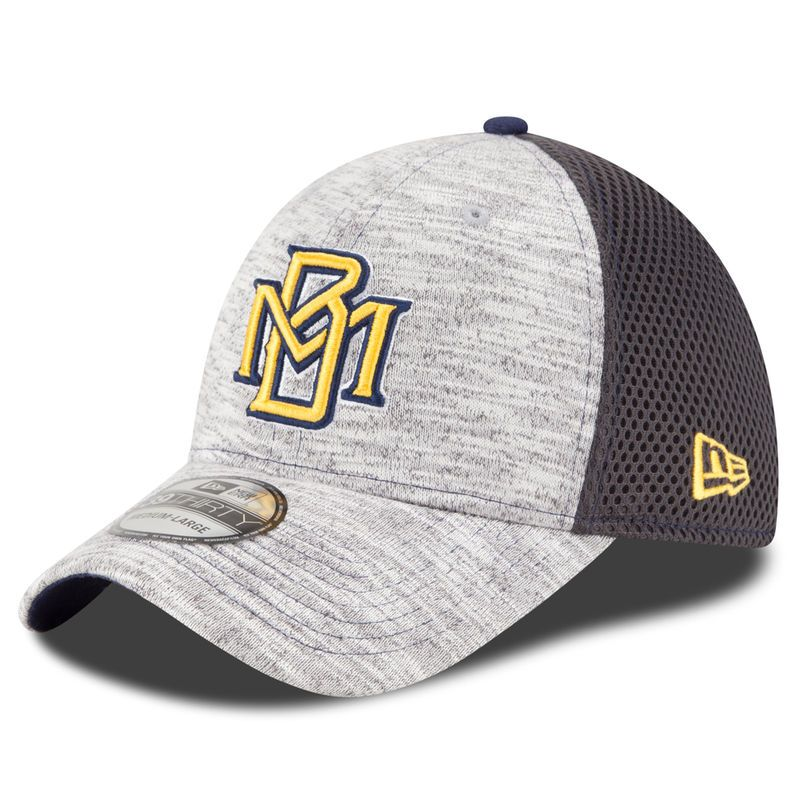 release date df598 a634b Milwaukee Brewers New Era Youth Clubhouse 39THIRTY Flex Hat - Heathered  Gray Graphite
