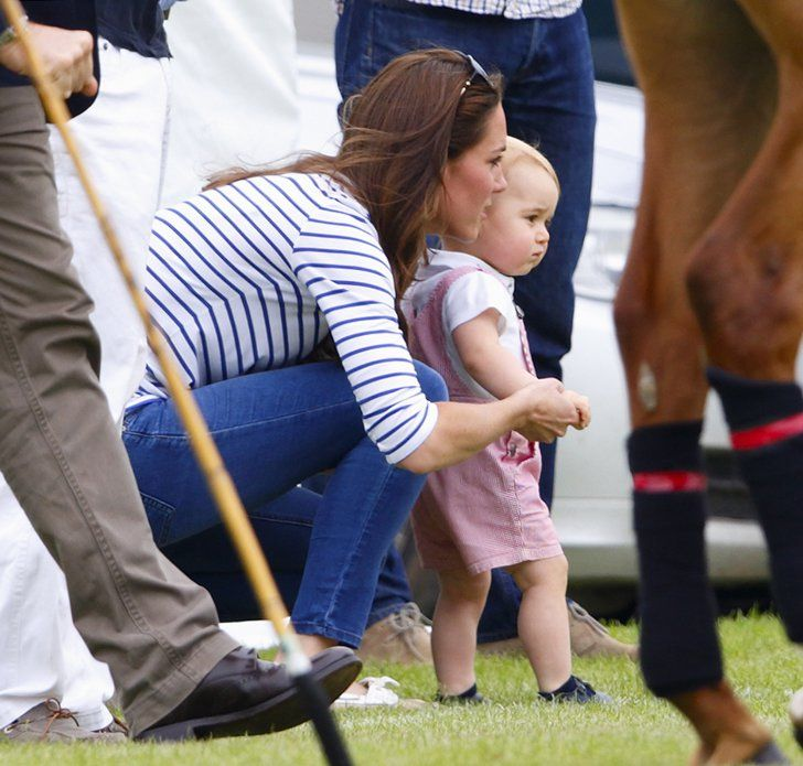 Pin for Later: 16 Duchess of Cambridge Mum Moments That Will Melt Your Heart When She Showed George the Ropes at a June 2014 Polo Match