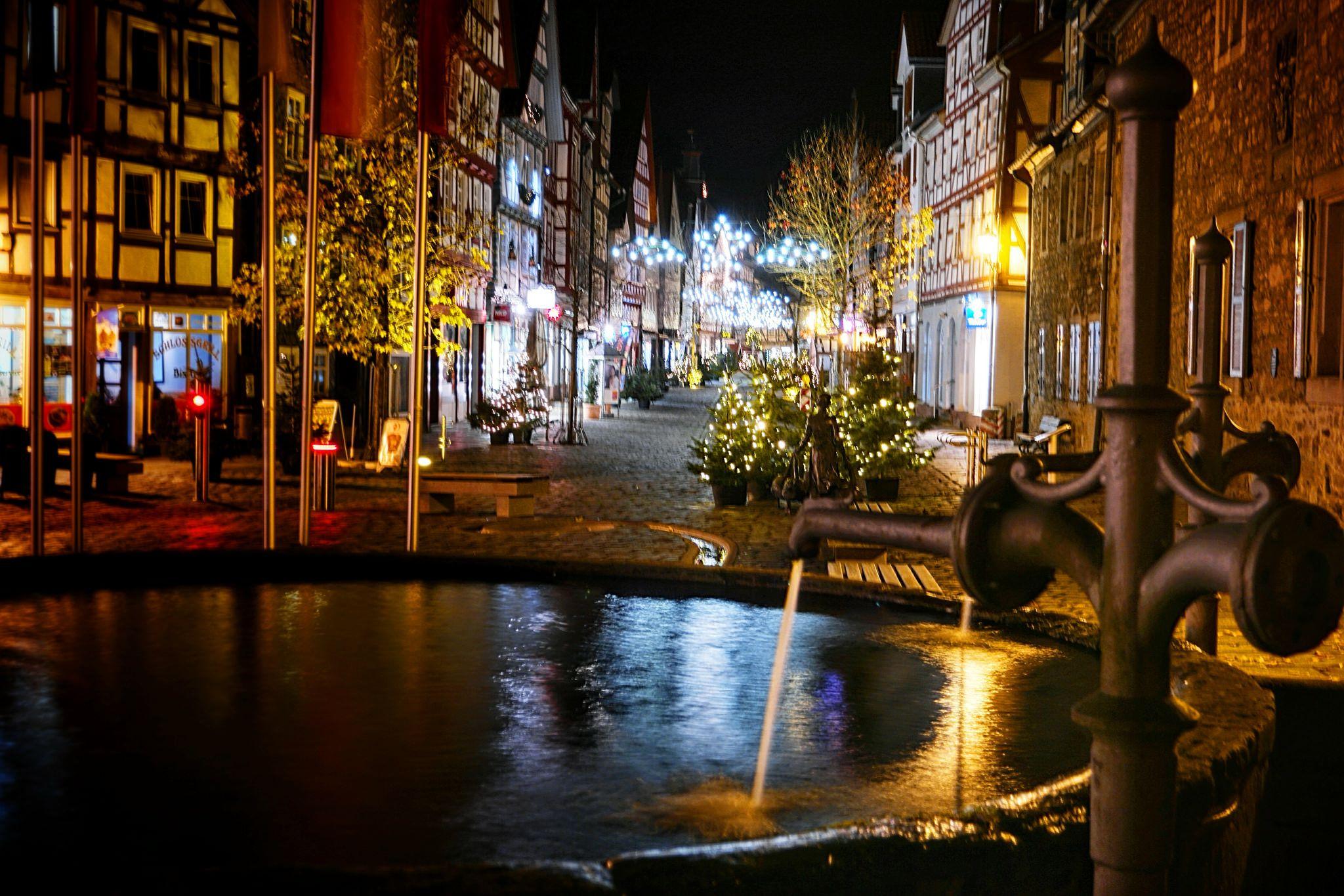 Weihnachtsmarkt Melsungen.Melsungen Bei Nacht Melsungen Melsungen Nacht Und Deutschland