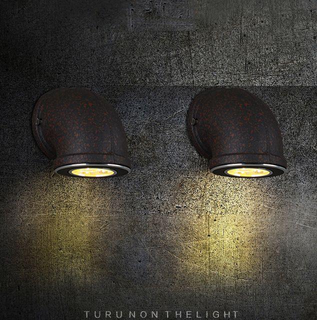 Led De Mur Tuyau Rétro Lampe Vintage Industrielle Rouille Loft Fer hQxsBdCtro