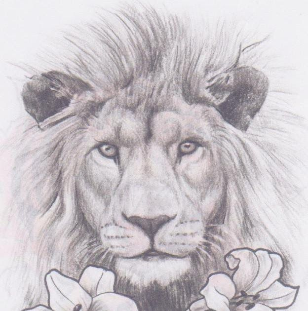 Lion In The Lilies Tattoos For Women Half Sleeve Lion Sketch Half Sleeve Tattoos Designs