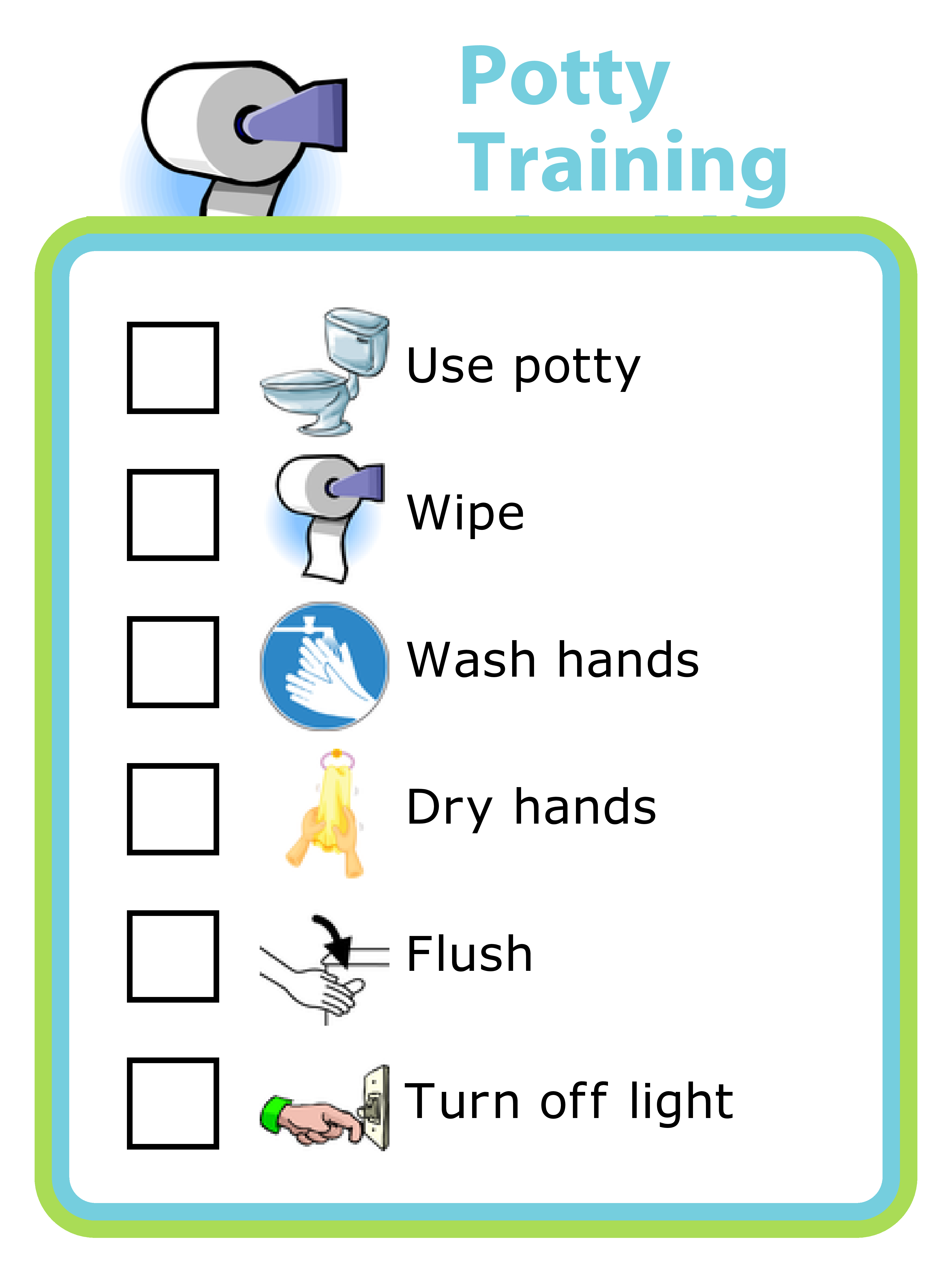 Make Your Own Potty Training Checklist Plus Lots Of Other Printable Activities For Kids