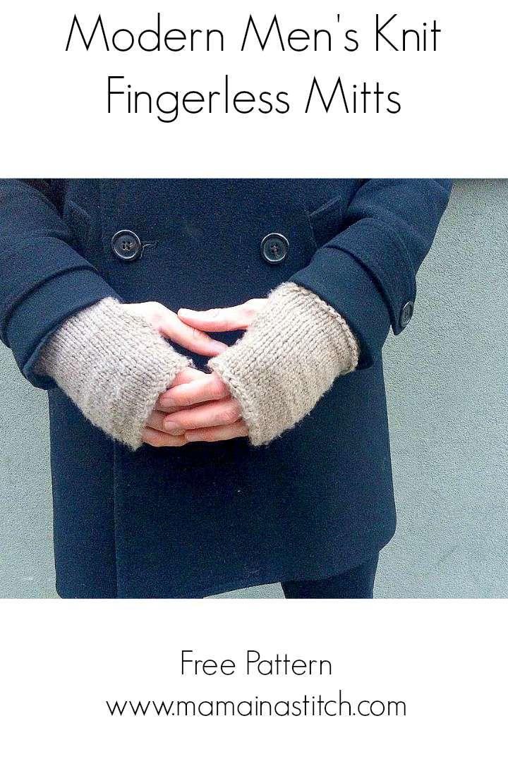 Mens Knit Mitts | Knitting | Pinterest | Patterns, Yarns and ...