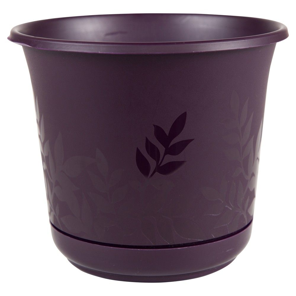 Freesia Planter with Etched Leaves Bloem 16 in