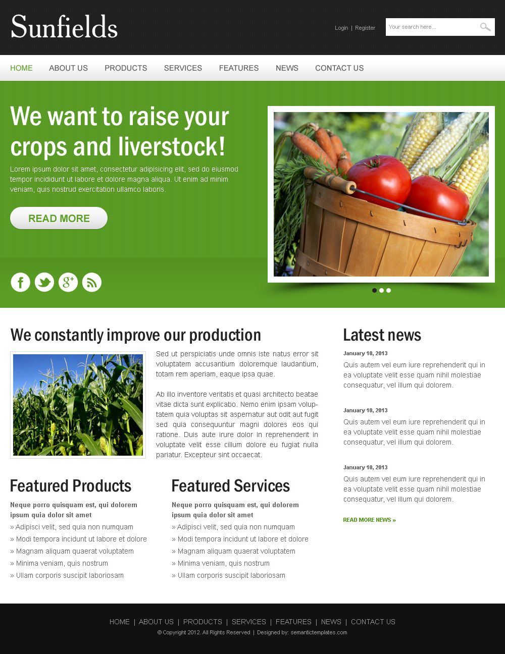 Agriculture Crops Clean And Creative Html Website Template Html Website Templates Website Template Website Template Design