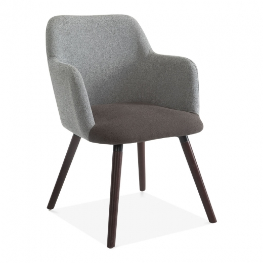 Hanover Dining Small Armchair, Wool Upholstered, Grey Two Tone #smallrestaurants