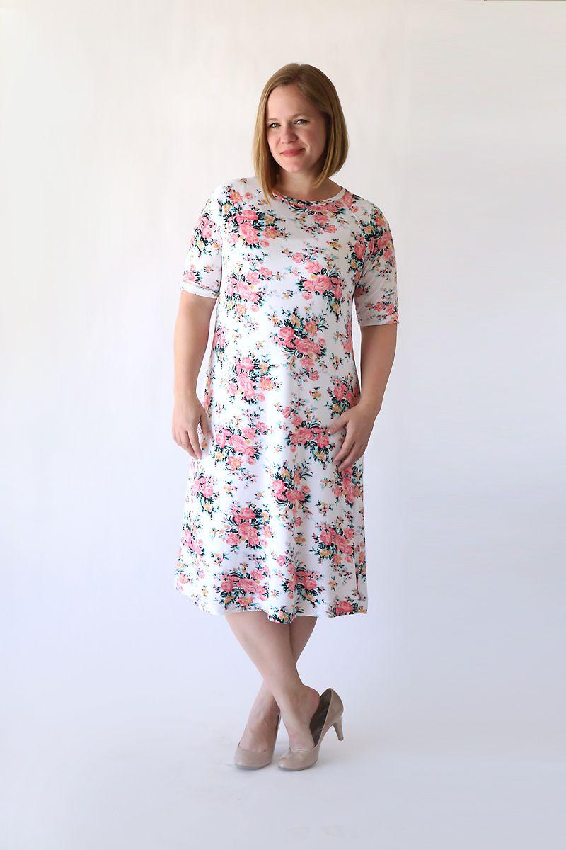 the easy tee swing dress | Muster und Nähen