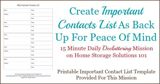 Free Printable Important Contact List Template Free printable - contact information template