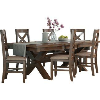 3cde2c67566c Laurel Foundry Modern Farmhouse Isabell 7 Piece Dining Set