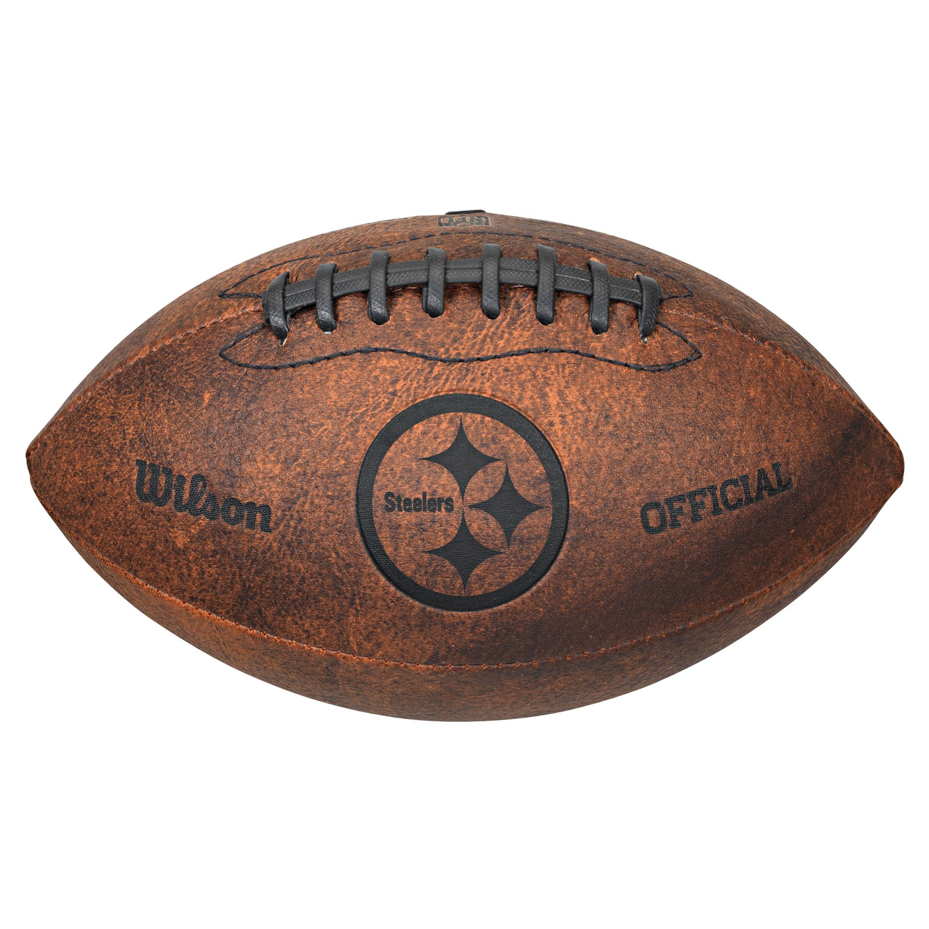 16aced11 Wilson Pittsburgh Steelers 9-inch Throwback Football, Size: Large ...