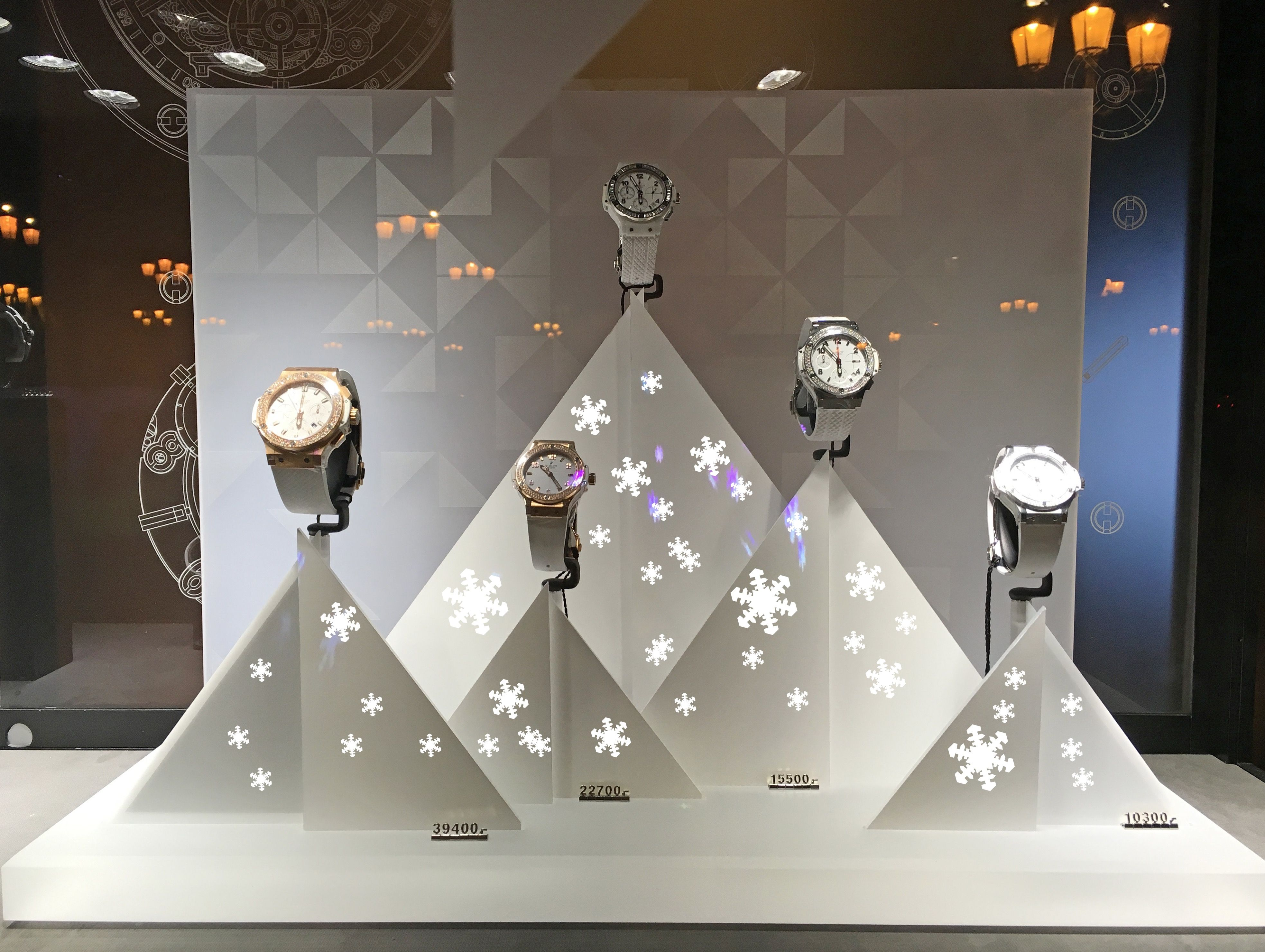 Magic of Christmas : it's snowing on the #Hublot store's decorations #Vendome ! >>>more>>>http://dietlin.ch/page.php?id=3028&gr=686&nv=5