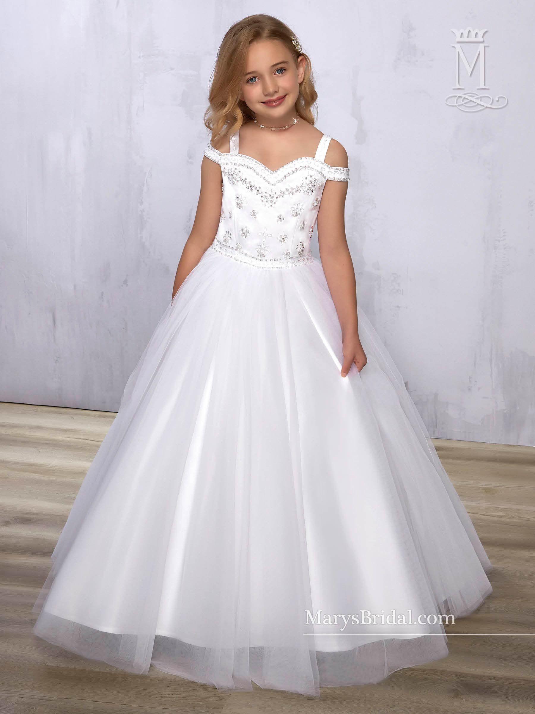 8398277d9af Cold Shoulder Flower Girl Dress by Mary s Bridal Cupids F572 ...