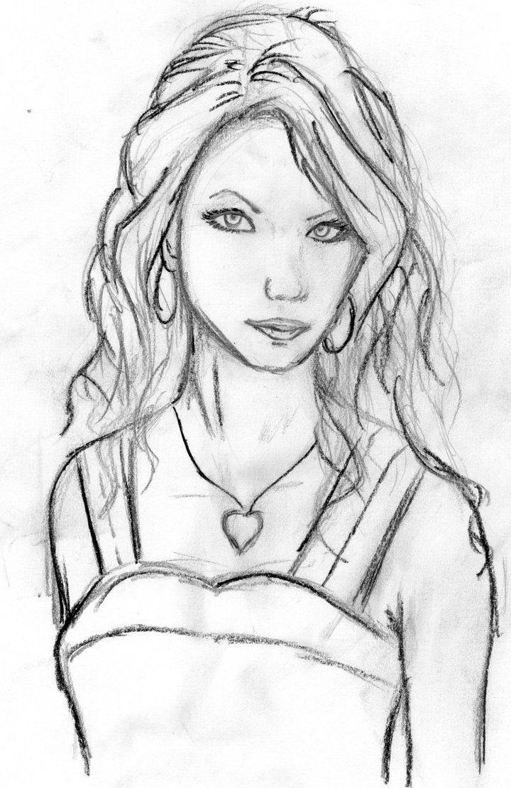 girl and boy drawings | Girl Drawing