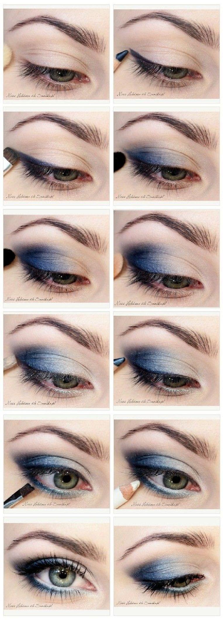 Metallic Blue Eye Makeup Tutorial My Style In 2018 Pinterest